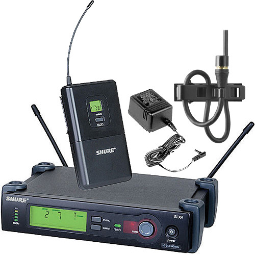 shure slx series wireless microphone system slx14 150 c g5 b h. Black Bedroom Furniture Sets. Home Design Ideas