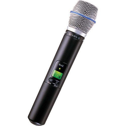 shure slx2 beta87a handheld wireless microphone slx2 beta87a g4. Black Bedroom Furniture Sets. Home Design Ideas