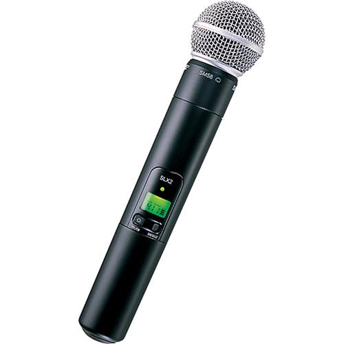 Aokeo Wireless Handheld Microphone : shure slx2 sm58 handheld wireless microphone slx2 sm58 h5 b h ~ Hamham.info Haus und Dekorationen