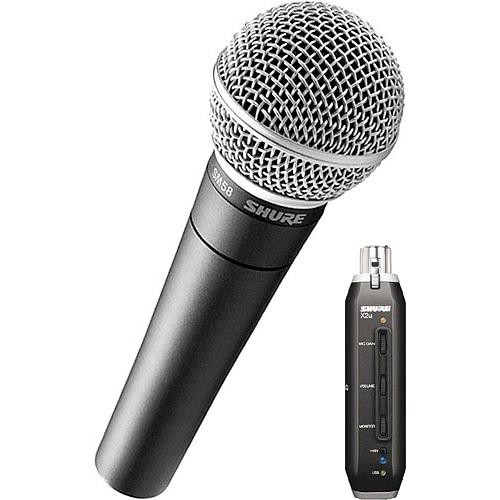 shure x2u xlr to usb microphone signal adapter and sm58 sm58 x2u. Black Bedroom Furniture Sets. Home Design Ideas