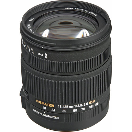 Sigma 18-125mm f/3.8-5.6 DC OS HSM Lens for Nikon Digital 853306