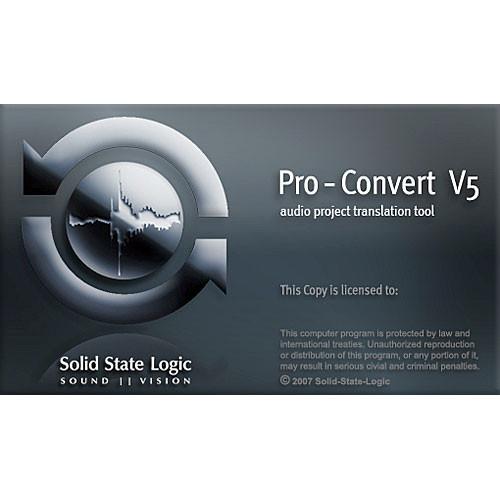 Solid State Logic Pro-Convert - Digital Audio Project 726978X1