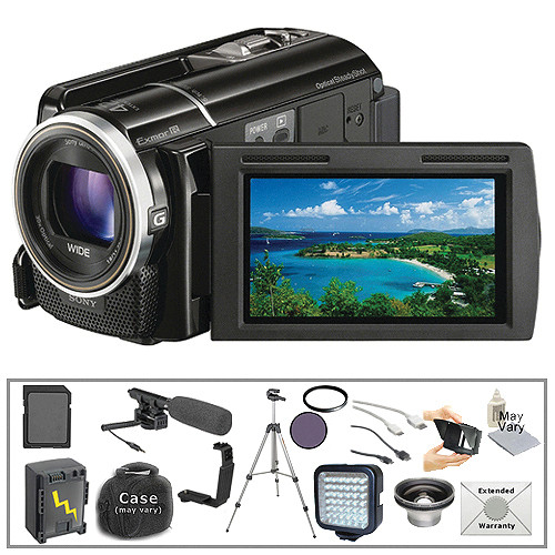sony hdr xr160 camcorder with deluxe accessory kit b h photo rh bhphotovideo com Sony Handycam Review Sony Handycam Camcorder