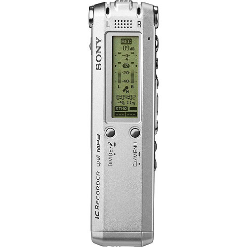 sony icd sx68 digital voice recorder 512mb icdsx68 b h photo rh bhphotovideo com Sony IC Recorder Manual PX820 Sony IC Recorder ICD -BX112 Manual