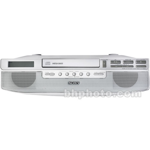 kitchen radio under cabinet sony icf cd523 cabinet kitchen cd clock radio 5544