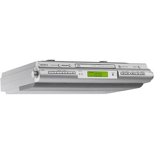 Sony Icf Cdk50 Under Cabinet Kitchen Cd Clock Radio Icfcdk50 B H