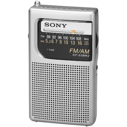 Sony ICF-S10MK2 Pocket AM/FM Radio ICFS10MK2 B&H Photo Video