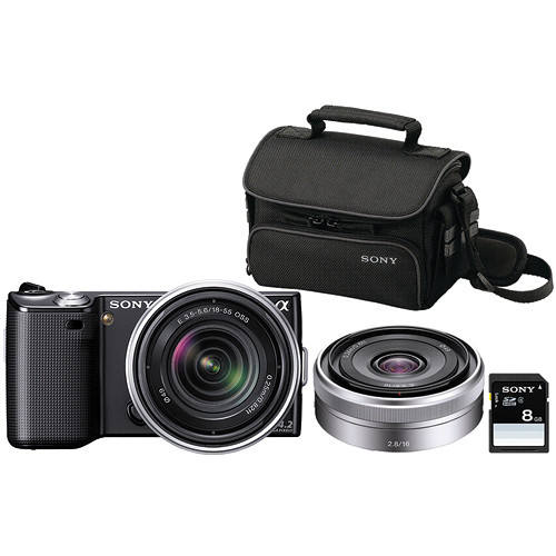 Sony alpha nex 5 photo specialty bundle
