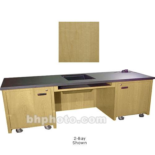 Sound Craft Systems 1 Bay Custom Presentation Desk Natural Maple