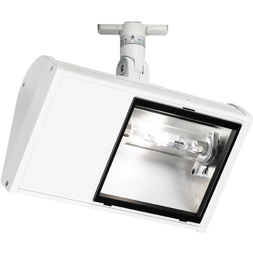Strand lighting 70 w wing metal halide wall swwmh7001120tlsi01 strand lighting 70 w wing metal halide wall wash flood with lsi track adapter white mozeypictures Choice Image