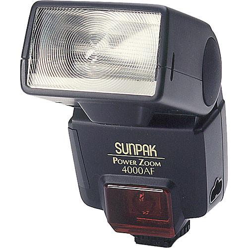 Sunpak power zoom 4000af (ca) flash original instruction manual.