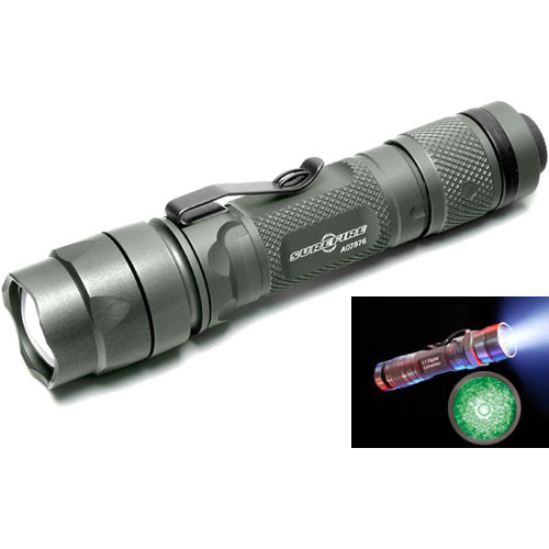 Beautiful SureFire L1 LumaMax Green LED Flashlight OD Green Lovely - Elegant best tactical flashlight Minimalist