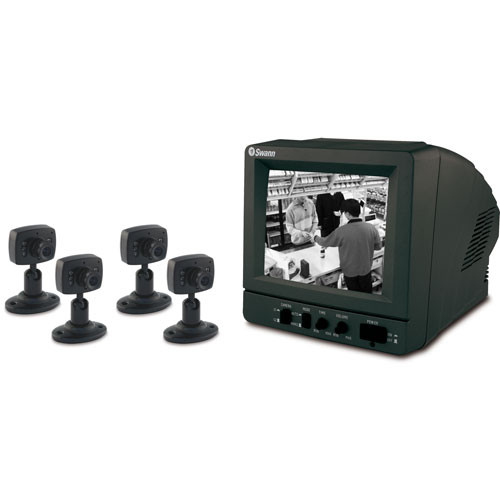 Swann SW244-SK4 DIY Security Kit with 4 B&W Security Cameras and 5.5
