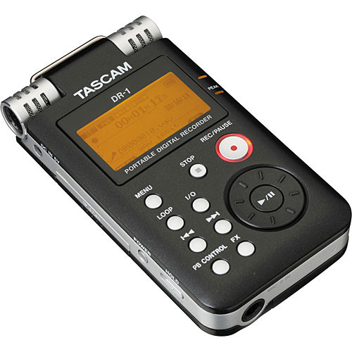 tascam dr 1 portable stereo audio recorder dr 1 b h photo video