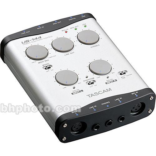 tascam us 144 audio midi interface us 144 b h photo video. Black Bedroom Furniture Sets. Home Design Ideas