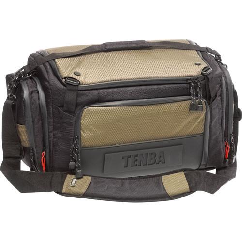 Tenba Shootout Large Shoulder Bag Black With Olive Trim