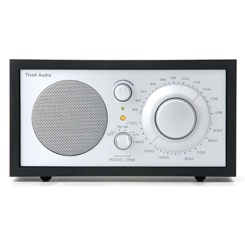 tivoli model one am fm table radio black ash silver m1slb. Black Bedroom Furniture Sets. Home Design Ideas