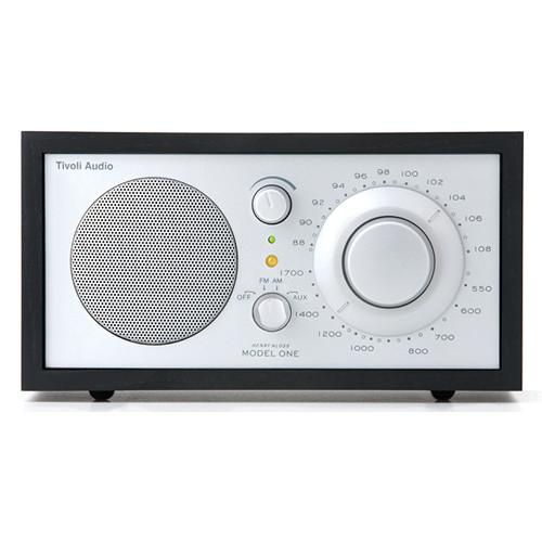tivoli model one am fm table radio black ash silver m1slb. Black Bedroom Furniture Sets. Home Design Ideas