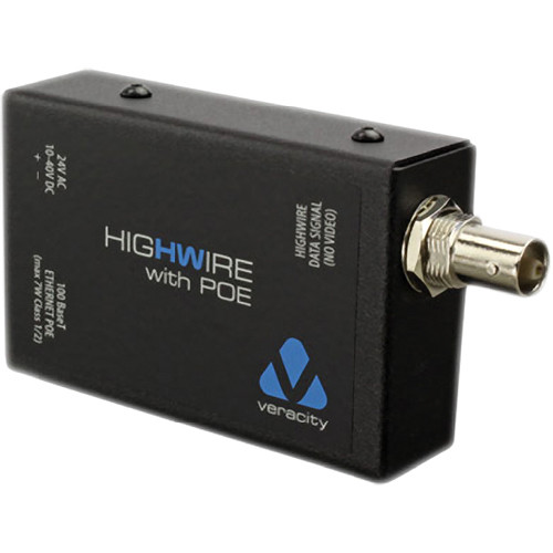 Coaxial Cable To Ethernet Adapter : Veracity highwire ethernet over coax converter with poe