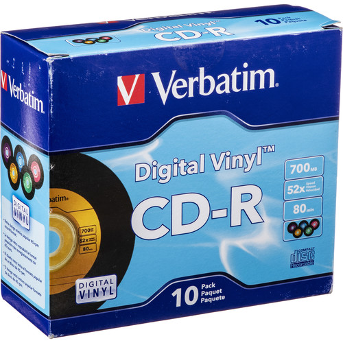 Verbatim Cd R Digital Vinyl Color Disc 10 94439 B Amp H Photo