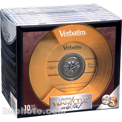 Verbatim Cd R Digital Vinyl Disc 10 94647 B Amp H Photo Video