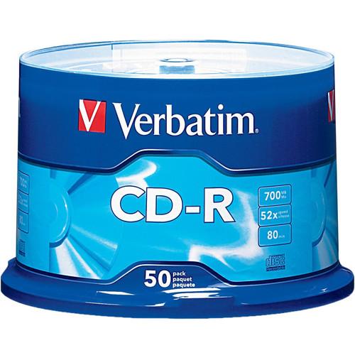 verbatim cd r 700mb disc spindle pack of 50 94691 b h photo. Black Bedroom Furniture Sets. Home Design Ideas