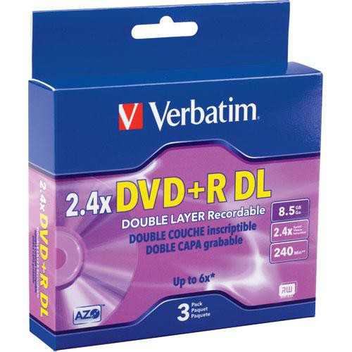 verbatim dvd r double layer recordable disc in jewel case. Black Bedroom Furniture Sets. Home Design Ideas