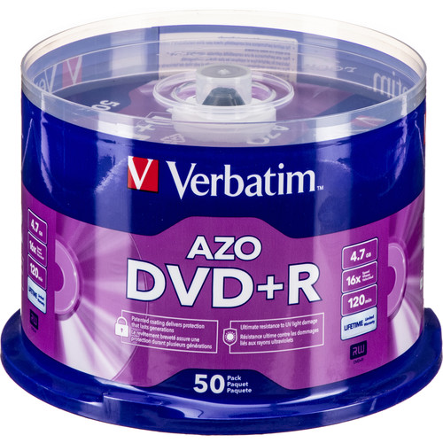 verbatim dvd r 4 7gb 16x disc 50 95037 b h photo video. Black Bedroom Furniture Sets. Home Design Ideas