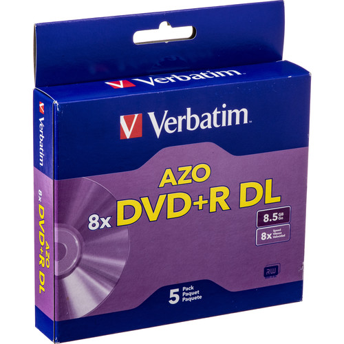 Verbatim DVD+R Double Layer, Recordable Disc in Jewel Case 95311 on