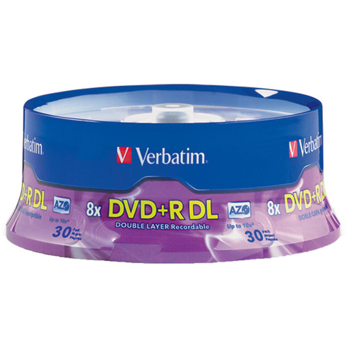 verbatim dvd r double layer 8 5gb 8x recordable disc 96542 b h. Black Bedroom Furniture Sets. Home Design Ideas