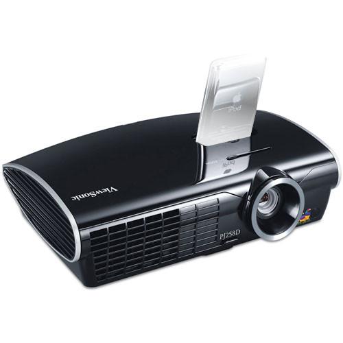 Viewsonic pj258d dlp projector w ipod dock pj258d b h photo for Ipod projector