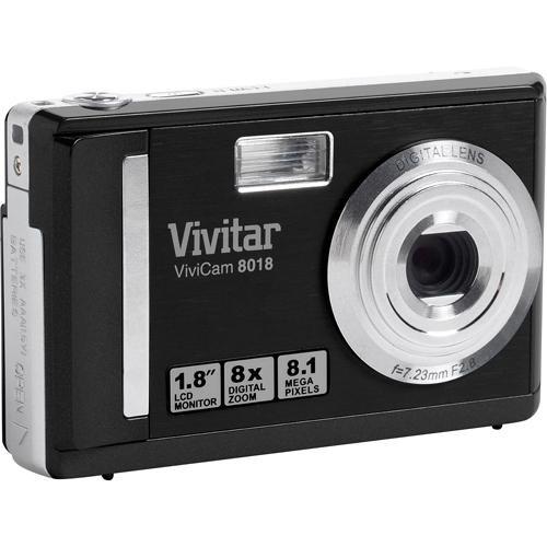 vivitar vivicam 8018 digital camera black 8018black b h photo rh bhphotovideo com Vivitar Instruction Manuals Vivitar Camera 510N Manual