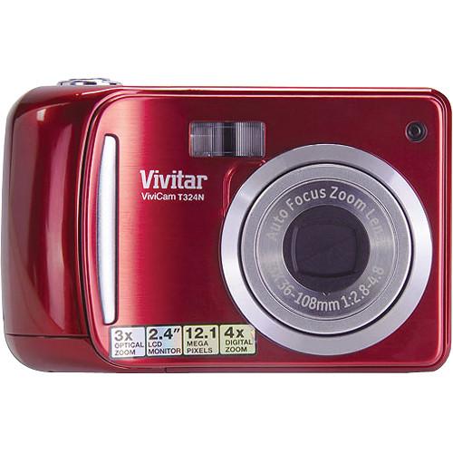vivitar vivicam t324n digital camera strawberry t324nstraw b h rh bhphotovideo com