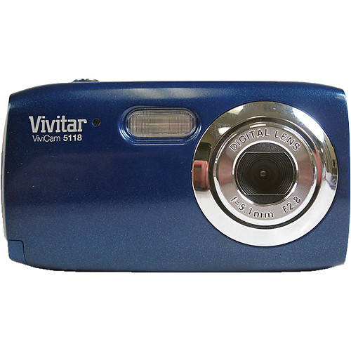 vivitar vivicam 5118 digital camera blue v5118 blu b h photo rh bhphotovideo com