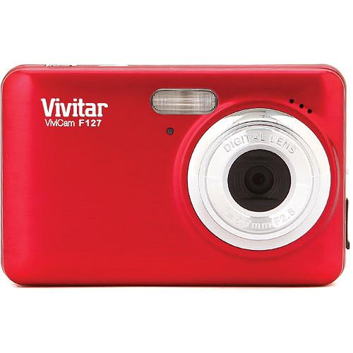 Vivitar 14.1Mp ViviCam F127 Digital Camera VF127-RED-BOX-INT B&H