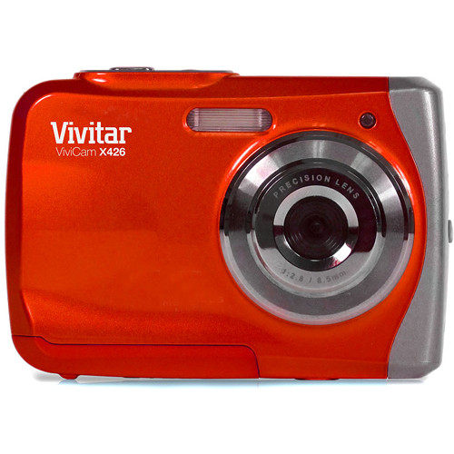 Vivitar ViviCam X426 Waterproof Digital Camera (Red) VX426-RED