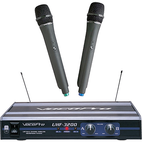 vocopro uhf 3200 uhf dual channel wireless mic uhf 3200 5 b h. Black Bedroom Furniture Sets. Home Design Ideas