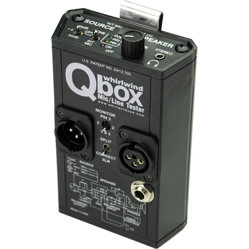 Audio Cable Tester : Whirlwind qbox audio line tester test tone generator