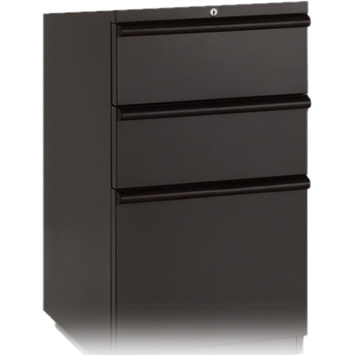 "winsted 3-drawer file cabinet (17.5"" depth, black) 10765 3 drawer file cabinet"