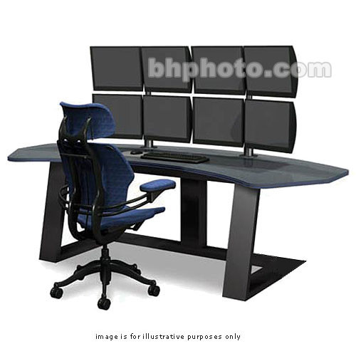 winsted digital desk with lcd mounts e4657 b h photo video rh bhphotovideo com 36 inch wide computer desk 30 wide computer desk