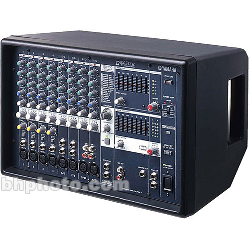 Yamaha emx 512sc stereo powered mixer emx512sc b h photo for Yamaha powered mixers