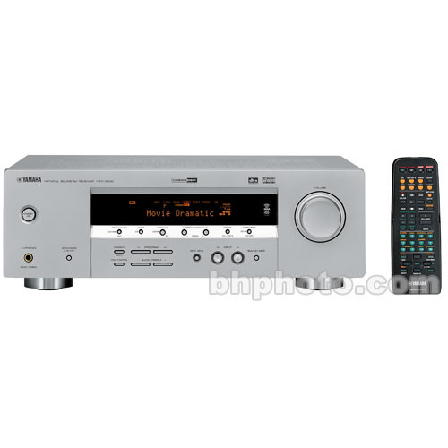 home theater yamaha. yamaha htr-5930 5.1-channel digital home theater receiver (silver) r