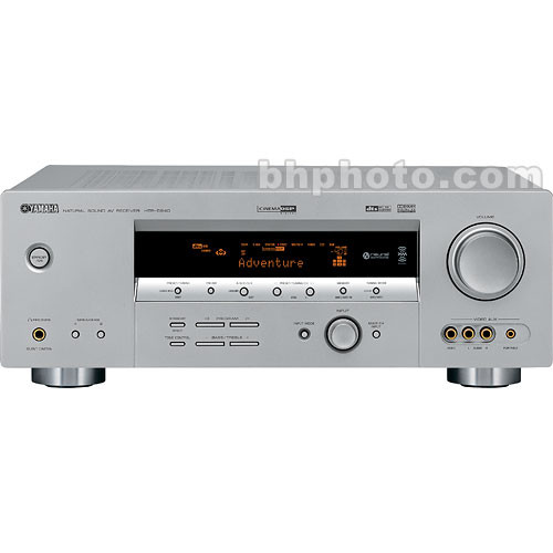 Yamaha htr 5940 home theater receiver silver htr5940sl b h for Yamaha home theater amplifier