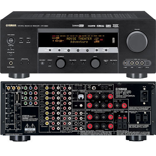 Yamaha htr 5990 home theater receiver htr5990 b h photo video for Yamaha home theater amplifier