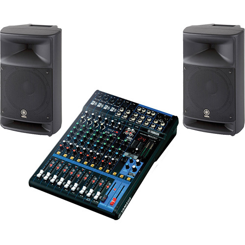Yamaha mixing console pro audio bundle mg12xu msr250 for Yamaha sound console