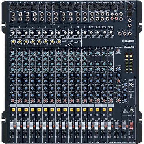 Yamaha MG206C 20 Channel 6 Bus Rack mountable Mixer MG206C on PopScreen