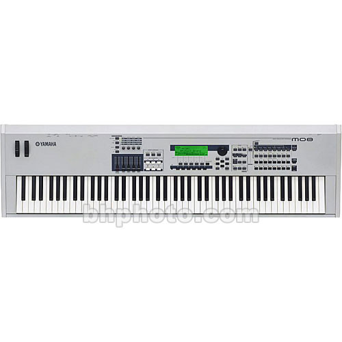 yamaha mo8 88 key music production synthesizer workstation mo8. Black Bedroom Furniture Sets. Home Design Ideas