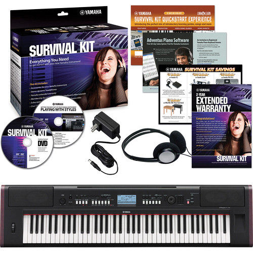 yamaha np v80 lightweight digital piano basics kit b h photo. Black Bedroom Furniture Sets. Home Design Ideas