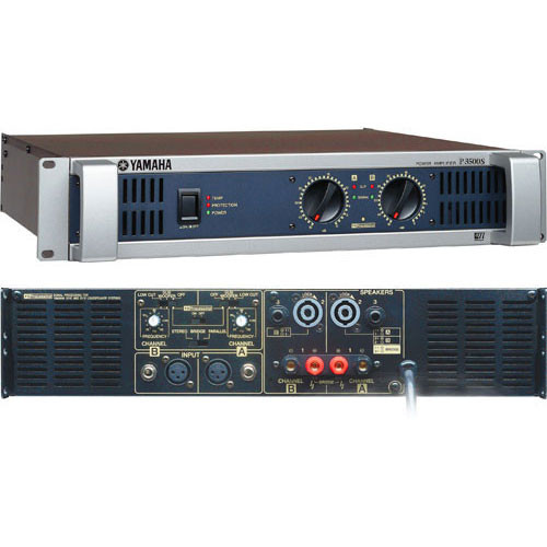 yamaha p2500s two channel power amplifier p2500s b h photo. Black Bedroom Furniture Sets. Home Design Ideas