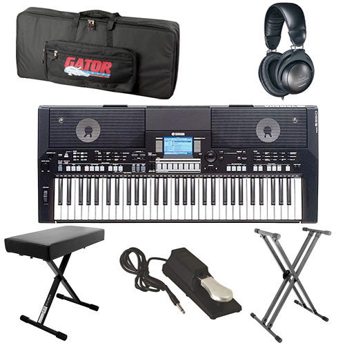 yamaha psr s550b value bundle b h photo video. Black Bedroom Furniture Sets. Home Design Ideas
